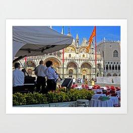 Band in Venice Art Print