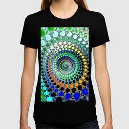Fractal Spiral Trippy Art Print T-shirt