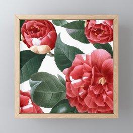 RED FLOWERS - digital Framed Mini Art Print