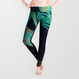 Turquoise Mermaid Leggings