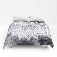BOHO WHITE NIGHTS MANDALA Comforters