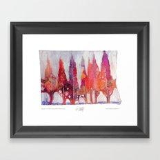 Cipressi Framed Art Print