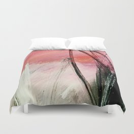 Train of thought: a vibrant abstract mixed media piece Duvet Cover