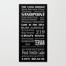 sandpoint, idaho Canvas Print