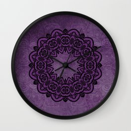 Circle in Purple Wall Clock