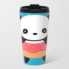 Kawaii Donut Panda Metal Travel Mug