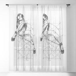 Samael Lilith. ©Yury Fadeev Sheer Curtain