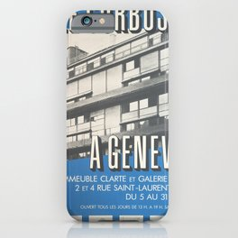 retro Plakat le corbusier a geneve immeuble iPhone Case