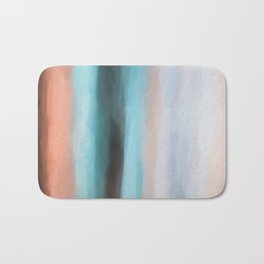Abstract Lines of Colors. Like Painted on Canvas. Bath Mat