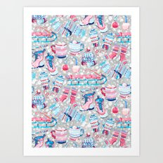 So Much Snow! Art Print