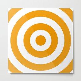 Target (Orange & White Pattern) Metal Print