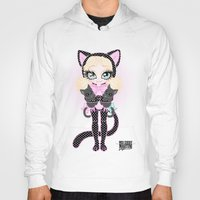 akira Hoodies featuring Kitty Akira by Miss Cherry Martini