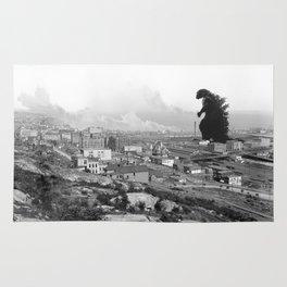 Old Time Godzilla Rug
