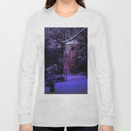 Concept Baden-Wurttemberg : Winter scenery castle park Laupheim Long Sleeve T-shirt