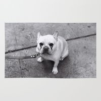 french bulldog Area & Throw Rugs featuring French Bulldog by Alev Takil