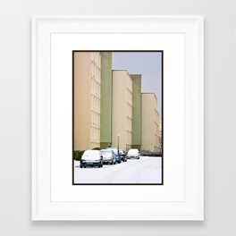 Snow Day Framed Art Print