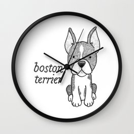 Dog Breeds: Boston Terrier Wall Clock