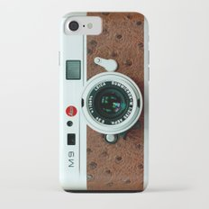 Classic retro White with Brown Leather vintage camera iPhone 4 4s 5 5c, ipod, ipad case iPhone 7 Slim Case