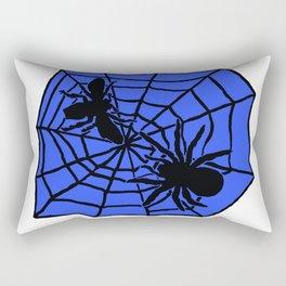 Confrontation. Blue Rectangular Pillow