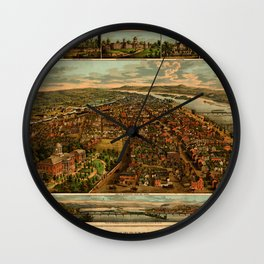 Harrisburg Panorama 1885 Wall Clock