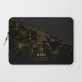 Bari, Italy - Gold Laptop Sleeve