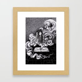 Beauty and the Board / Beauty and the Beast Framed Art Print