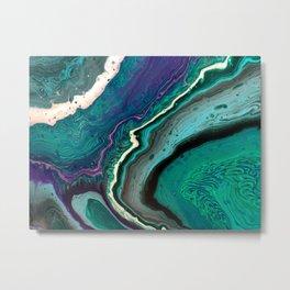 Marble Geode Metal Print