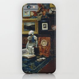William Merritt Chase - Studio Interior - Digital Remastered Edition iPhone Case