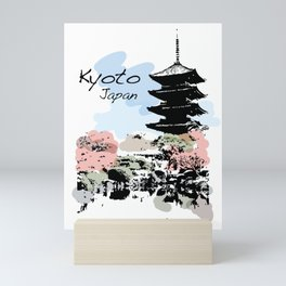 Kyoto Temple Japan Mini Art Print
