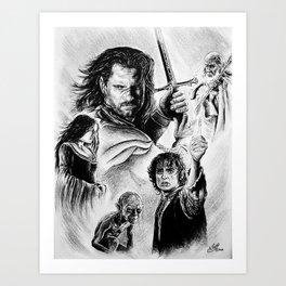 The Kings Battle Art Print