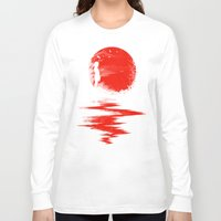 sun Long Sleeve T-shirts featuring The Land of the Rising Sun by nicebleed