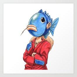 Fish Head Pirate Art Print
