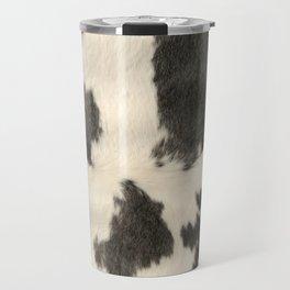 Black & White Cow Hide Travel Mug