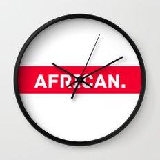 AFRICAN Wall Clock