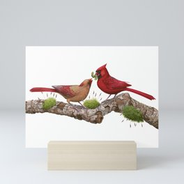 Northern  Cardinals Mini Art Print
