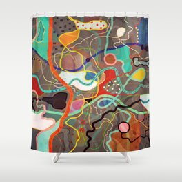 GPS Coordinates Exploring a new Road Shower Curtain