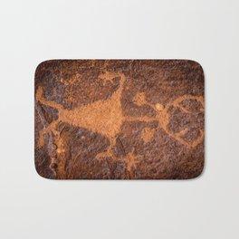 Moab Man Petroglyph Portrait - Utah Bath Mat