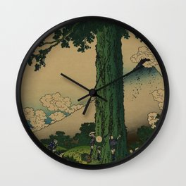 Hokusai Wall Clock