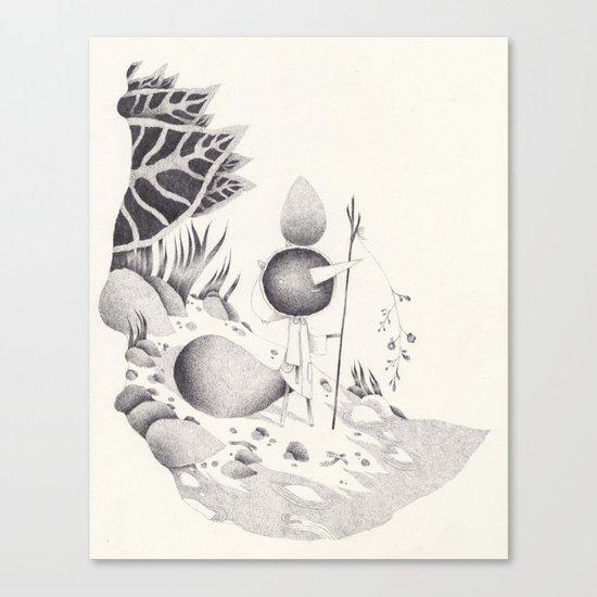 le bord de l'eau Canvas Print