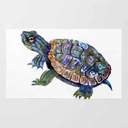 Slider Baby Turtle artwork Rug