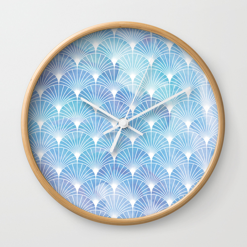 Mermaid Fans: I Dream Of Atlantis Wall Clock by Sunmoonandfireflies CLK8255553