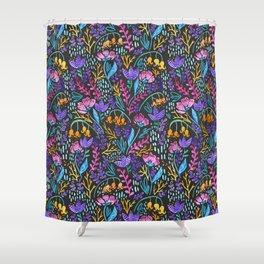 Wonderland Flower Pattern Shower Curtain