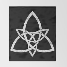 Rustic Celtic Knot - Inverted Throw Blanket