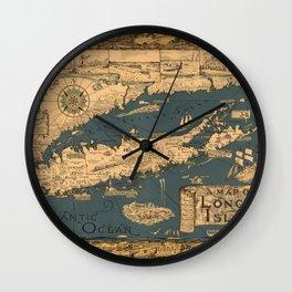 Map of Long Island Wall Clock