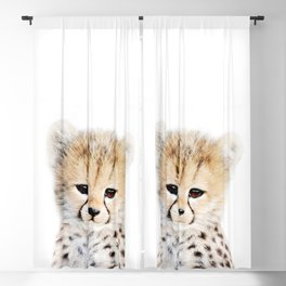Baby Cheetah Portrait Blackout Curtain