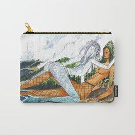 PNW Fishnets - Earth and Sky Goddess Kiss Painting Carry-All Pouch