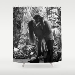 Kissing in the Climatron Shower Curtain