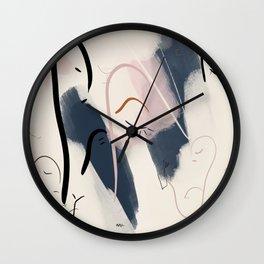 I Dreamt In Drinks | modern line art |  Wall Clock