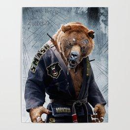 Jiu Jitsu Grizzly Poster