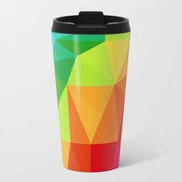Rainbow Low Poly Travel Mug
